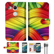 Meaningful Abstract Wallet Case Cover For Google Nexus 5X -- A020