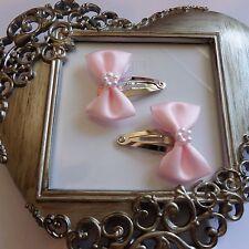 girls hair clips snap clips slides bendies  hair clip pink bows