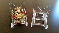 "5 Adjustable 3-1/8"" Display Stand Easel Brooch Brooches Cameo Rouge Compact"