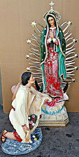 Virgen De Guadalupey Juan Diego, Our Lady Of Guadalupe STATUE 31 INCH Hand MADE