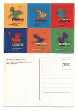 Cartolina EXPO 2000 HANNOVER Germany STICKERS Postcard