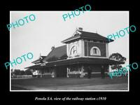 OLD LARGE HISTORIC PHOTO OF PENOLA SA, VIEW OF THE RAILWAY STATION c1900