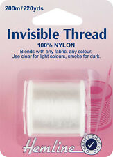 Invisible Thread Use for blending invisibly with fabrics & coloured Threads 200m