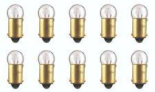 10x 1445 Miniature Light Bulb Automotive Car Trunk RV Lamp 12v G-3.5 BA9S Lot