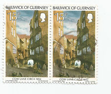 BAILIWICK OF GUERNSEY; COW LANE C1852 pair Used  s*