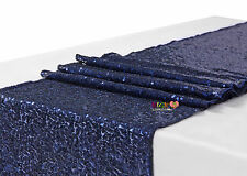 2.75m*30cm  Navy Blue Sequin Table Runner Wedding Party Bling Decoration