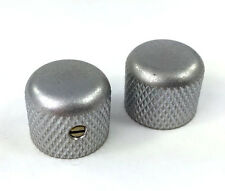 (2) Gotoh Factory Aged Chrome/Relic Dome Knobs for Guitar/Bass MK-3150-007