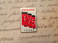 CUNARD 175 TH 3 QUEENS LIVERPOOL SALUTE LAPEL PIN LIMITED EDITION
