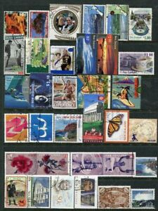 NEW ZEALAND....   Collection of 32 diff used stamps mostly face 80c to 1.10
