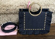 Kate Spade Denim Sam Bag White Rock Road Studded Bracelet Boutique Handbag