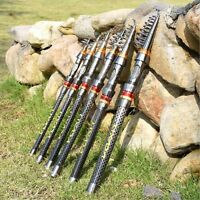 NEW Ultralight Telescopic Spinning Reel Rod Sea Fishing Pole Travel Carbon Fiber