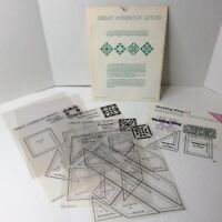Quilt Templates Great American 5 Frosted Vinyl Templates 1987 Oxmoor House