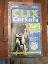 New listing Clix Car Safe Harness Medium Dog Fits Car Seatbelt Buckle Walking Harness New