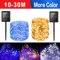 10-30M LED Solar String Lights Waterproof Copper Wire Fairy Outdoor Garden