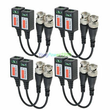 Lot -Yp Cctv Camera Passive Transceiver Video Balun Twisted Bnc Connector Cable