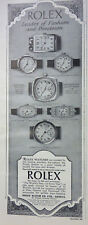 "ROLEX Montre-Bracelet ""leader of fashion"" original publicité 1928 advertisment"