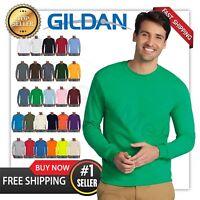 NEW MANS GILDAN LONG Sleeves BLANK t shirt Heavy Cotton Adult casual G2400 S-5XL