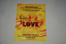BEATLES PROMOTIONAL POSTER FROM THE LOVE ALBUM 18 X 24