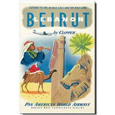 Fridge magnet Vintage Travel Poster: Lebanon Beirut