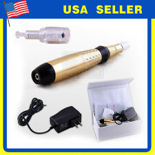 Electric Derma Pen Stamp Auto Micro Needle Roller Anti Aging Skin Therapy Device