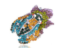 Colorful Crystal Amazon Frog Adjustable Costume Jewelry Fashion Ring