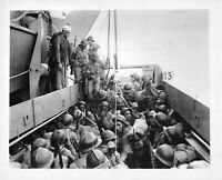 Official U.S. WW2 Photograph Training Coast Guardsmen Training French Troops