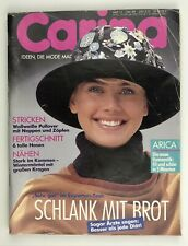 Vintage Carina Sewing Pattern and Lifestyle Magazine October 1989 in German