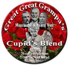 """Valentine's Day - Moustache & Beard Wax- """"Cupid's  Blend"""" - Scented - 3 Holds"""