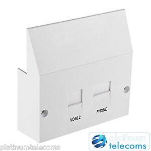 ADSL and VDSL2 Broadband High Speed faceplate filter for BT NTE5A master sockets