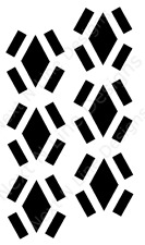 Diamond Pattern Stencil, Minus, Diamond, Wall Stencil ,Mylar Stencil, Reusable