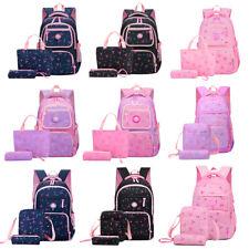 3pcs Girls Backpack School Book Bag Large Travel Shoulder Bag Rucksack +Lunchbag
