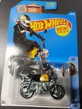 Hot Wheels Diecast - Honda Monkey Z50 Bike (Yellow) NEW - US Carded