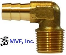"""Hose Barb Elbow 90° for 3/8"""" ID HOSE X 3/8"""" Male NPT Brass Fuel Fitting <HBT1-6"""