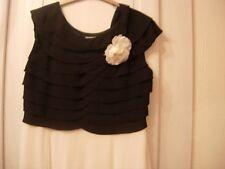 Jacques Vert Bodice Panelled Skirt Dress -cream & Black Size 16 -new