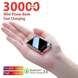 30000mah Mini Power Bank Portable Phone 2.1a Fast Charger Usb Charging Charger