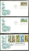 US SC # 2205- 2209 & 2209a Fish Booklet  FDC. 6 Covers Set. Artcraft Cachet.