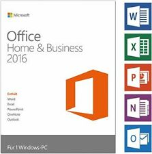 MS Office Home and business 2016 Word Excel Power outlook Lifetime Licence
