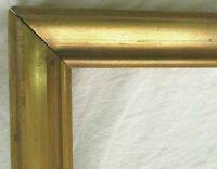 "BIG VINTAGE FITS 19 X 29"" LEMON GOLD GILT PICTURE FRAME WOOD GESSO FINE ART"
