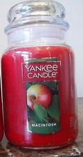 Yankee Candle  Macintosh 22 oz.NEW. 1 SINGLE.Fresh Crisp Apple Scent.Free Ship.
