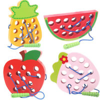 Educational Toys Fun Wooden Toys Worm eat Fruit  Funny Wooden Puzzle Toys