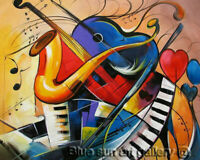 Modern Wall Art Home Decor Handpainted Music Abstract Oil Painting On Canvas
