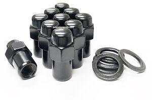 20X LUG NUTS 1/2 BLACK MAG WHEEL NUT .75 SHANK CRAGAR 1/2X20 1/2-20 FORD WASHERS