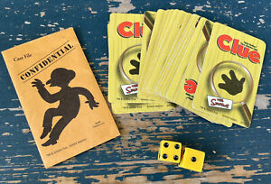 The Simpsons Clue Board Game Replacement Parts Cards, Dice