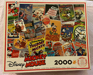 🧩  MICKEY MOUSE MOVIE POSTERS - 2000 Piece Jigsaw Puzzle - EUC Complete