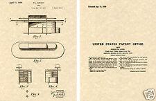 Frank Lloyd WRIGHT DESK US PATENT Art Print READY TO FRAME classic vintage