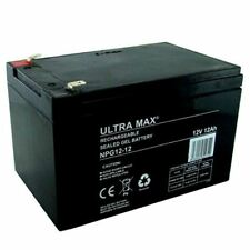 Ultramax NPG12-12, 12V 12AH (come 15Ah) Esca Barca Batteria Gel - 45% More Time