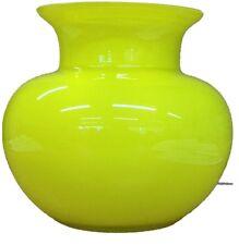 Alicija Round Vaso di fiori di vetro giallo con scollo ampio tavolo Vaso