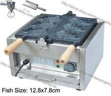Commercial Nonstick Electric Japan Taiyaki Fish Waffle Iron Machine Maker Baker