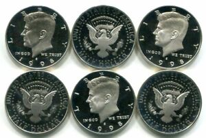 Roll of 20 GEM PROOF CAMEO 1998-S SILVER Kennedy Halves - Free Shipping