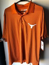Texas Longhorns Mens LARGE Polo NWT Small Pinhole From Security Tags SEE PHOTOS